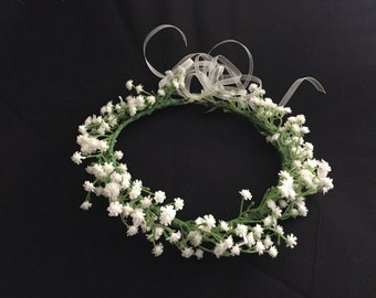 BABETTE - White Babies Breathe Flower Crown