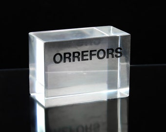 Orrefors dealers sign for their store display 1960's