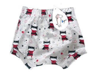 baby bloomers short super cat, choose your size