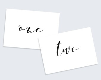 Printable Table Numbers | Wedding Table Numbers | A6 Party Table Numbers