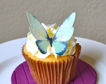 The Original EDIBLE BUTTERFLIES - Large Green - Cake & Cupcake toppers - Food Decorations