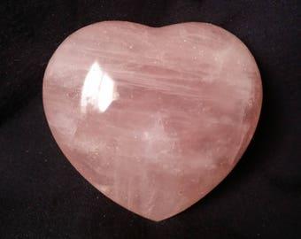 Rose Quartz Crystal Heart Pink Quartz Heart Shaped Healing Crystals | Healing Stones | Rocks and Minerals 1188
