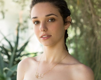 Minimalist necklace modern necklace, Personalized Necklace, simple necklace minimal necklace