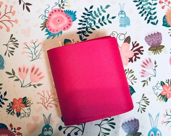 "Cute Hot Pink Grosgrain 3"" Ribbon"