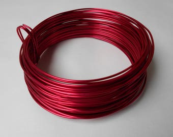 Red aluminum wire - width 2 mm - length 5 meters