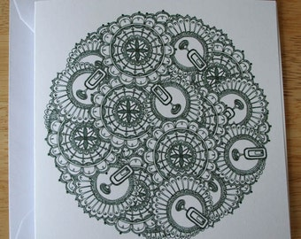 Lace design 4 blank greeting card