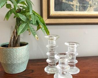 Free Shipping Finnish Glass Candleholder trio