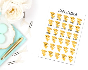 Dog/Puppy/Pet Care Planner Stickers