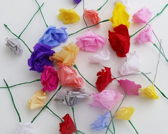 DIY flower bouquet, Individual blooms, Paper roses, Wedding bouquet, Home decor, Craft supply, Bridesmaid bouquet, floral arrangements, Rose