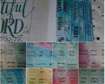 Double sided- PRINTABLE Bible Tabs-Pink and Purple