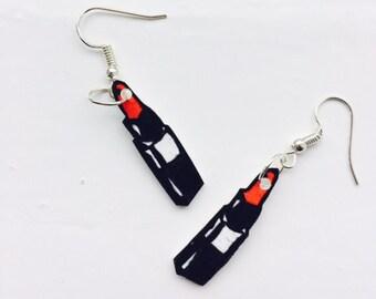 Lipstick Earrings