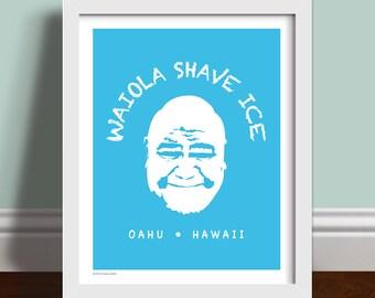 Waiola Shave Ice Hawaii Five-0 - Art Print Poster