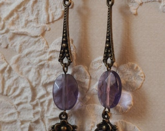 Earrings at the former violet