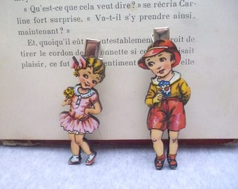 """Retro small"" wooden hair clip"