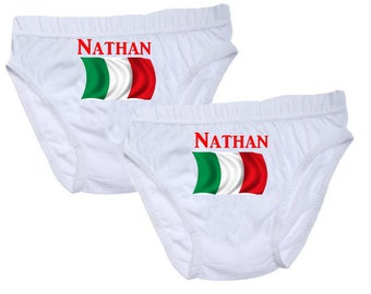 Pants boys Italy personalized with name