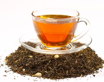 Tea Pomegranate and Lavender Green Loose Leaf Hand Blended Tea 4 ounces