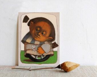 Painting, Nursery art, Children girls painting, Woman art, Girl Nursery art,