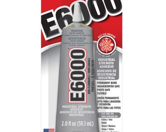 E6000 Glue ~ 2 oz or .18 oz ~ Perfect for air plants ~ Glue to wood or Sea shells ~ Dries quickly ~ Doesn't hurt the Plant