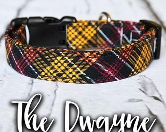 "Dog Collar- Trendy Dog Collar, Boy Dog Collar, Buckle Dog Collar, Modern Dog Collar, Manly, Plaid Dog Collar, Dog Collar Plaid, ""The Dwayne"""