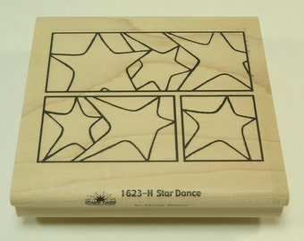 Star Dance1623-H Wood Mounted Rubber Stamp By Moote Points