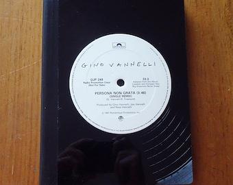 """Vinyl Record Bound Notebook - Vino Vannelli """"Persona Non Grata"""" Single"""
