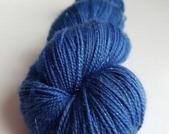 Skein of Superwash Merino - Nylon - Stellina / Fingering / Sock hand - dyed Color Purple Rain