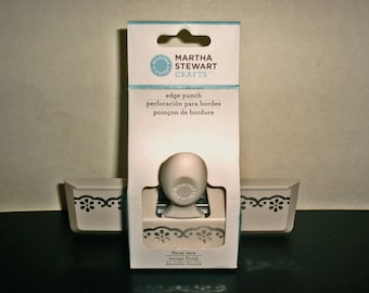 Martha Stewart Crafts FLORAL LACE Edge Punch brand new in the box