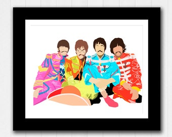 The Beatles - Minimalist Poster - Sgt Pepper