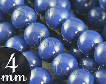 5810 Gemcolors by Swarovski Elements, 4mm glass pearls, Dark Lapis (25)