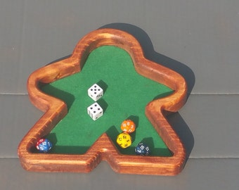 Dice Tray Board Games RPG D&D Meeple