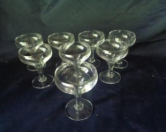 Vintage Cordial Glasses - Set of 8