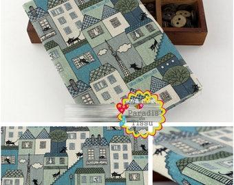 1 x coupon 50x145cm black cat print pattern pure linen fabric