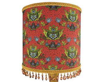 William Morris Inspired Beaded Lamp Shade or Ceiling Lampshade UK - Unique Home Decor