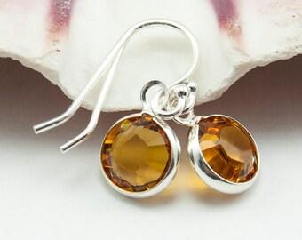 Topaz Earrings - November Birthstone Earrings - November Birthstone Jewelry Personalized Gift - Custom Birthstones Dangle Earrings
