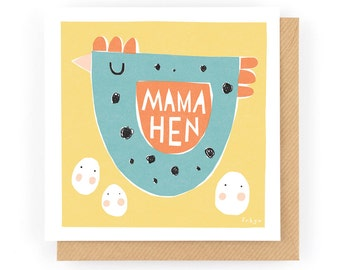 Mama Hen - Greeting Card (1-99C)