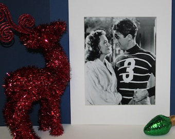 James Jimmy Stewart and Donna Reed Photo with White Mat It's a Wonderful Life .Professionally matted display measures a final size of 11x14.