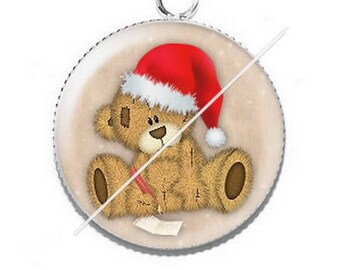 Pendant cabochon resin Merry Christmas happy holidays 30