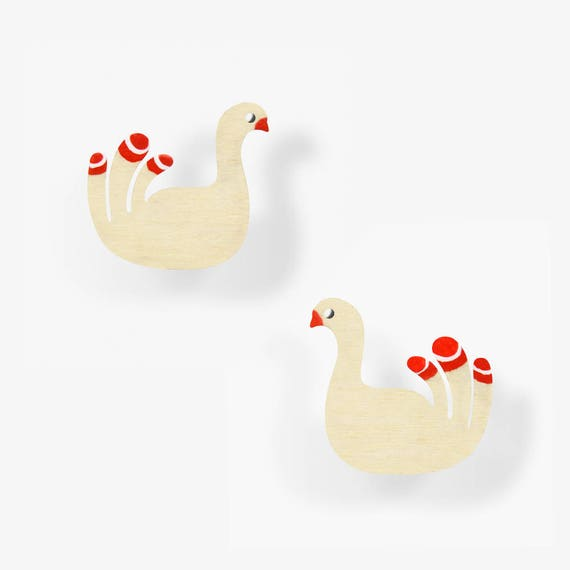 Swan Study Earrings