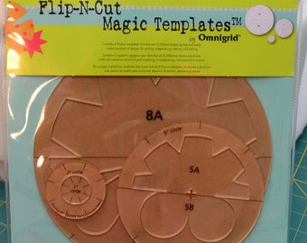 Omnigrid Flip-N-Cut Magic Templates, Set 2