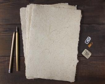 Handmade paper / Deckle edge paper / Textured paper / Rustic wedding paper / Calligraphy / Single sheet (code#26)
