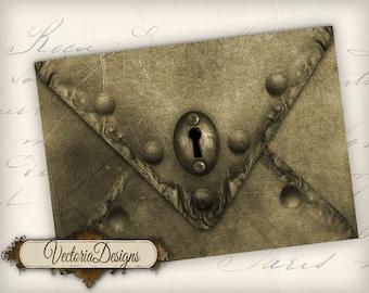 Instant download Steampunk Envelopes Printable Envelopes instant download digital collage sheet VD0292
