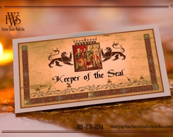 Medieval Wedding Table Place Name Cards