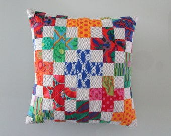 Decorative Pillow | Throw Pillow | Modern Quilted Pillow | Multi Colored Pillow COVER