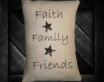 "Faith Family Friends  12""x16"" Pillow Set"