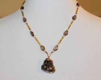 Necklace Orbicular Jasper & Smoky Quartz