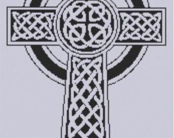 Celtic Cross Cross Stitch Pattern