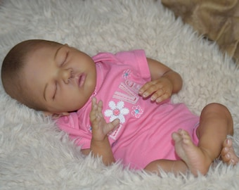AA Ethnic Reborn baby girl. Sold out limited edition Harley by Melody Hess