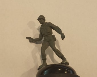 green army man Bicycle Bell, Bicycle Gift, CycloMan, Bicycle Accessories, Silly Present