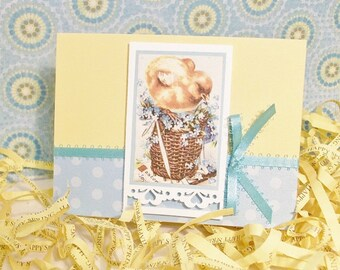 Handcrafted Easter Card With Vintage Image