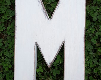"""36"""" wooden letter M, Guest books, Bar Mitzvah gifts, Signage,Bridal shower, Party decor, Weddings, Gifts  kids wall art"""